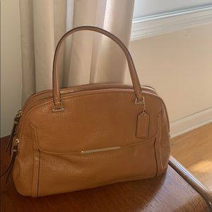 Tan Coach Handbag